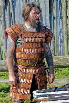 lamellar armour from a French medieval living history site.