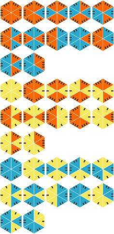 hexagonal dominoes--not printable but could be used as inspiration