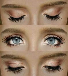 Gradient Coral Eyes Makeup Tutorial. Why can't I have these eyes? They're just stunning!