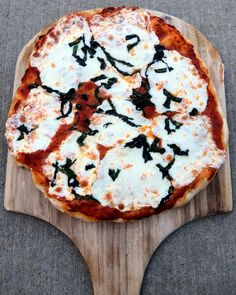 Traditional Margarita Pizza. PIN THIS! It was SO good! I added tomatoes per my hubby's request and amazing!