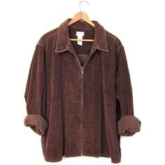 Designer Clothes, Shoes & Bags for Women Retro Outfits, Mode Outfits, Cute Casual Outfits, Fashion Outfits, Brown Corduroy Jacket, Brown Jacket, Grunge Jacket, Sup Girl, Mode Kpop
