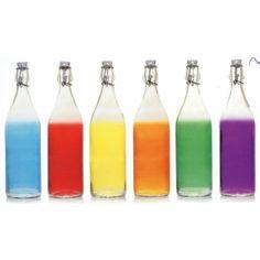 Botella Cristal 1l Colores