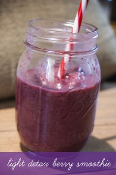 Light Detox Berry Smoothie (Low FodMap) #detox #smoothie #fodmap
