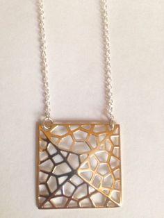 Argento Vivo Two Tone Sterling Silver 925 Necklace - http://designerjewelrygalleria.com/argento-vivo/argento-vivo-two-tone-sterling-silver-925-necklace/