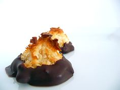 tonight's recipe endeavor: chocolate dipped coconut macaroons