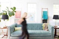 Tufted Sofa  |  Look Linger Love