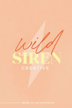 Colorful and bold branding inspiration: bold and playful logo design for wild siren creative, combining peach, orange and yellow. Modern graphic design inspiration by Karima Creative Modern Logo Design, Best Logo Design, Brand Identity Design, Branding Design, Graphic Design, Fantasy Mermaids, Real Mermaids, Tattoo Mermaid, Mermaid Mermaid