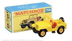 Matchbox Regular Wheels No.72b Standard Jeep CJ5. Toy Model Cars, Matchbox Cars, Jeep Truck, Old Toys, Vintage Toys, Hot Wheels, Childhood Memories, Diecast, Addiction