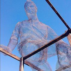 Edoardo Tresoldi wire sculpture for Life is Beautiful / Just Kids, Las Vegas, 10/14 (LP)