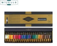 79.11$  Watch here - http://aligcz.worldwells.pw/go.php?t=32602714535 - Hotsale Mijello gold 24 colors watercolor master high concentration pure golden mission natural pigment watercolour paints 79.11$