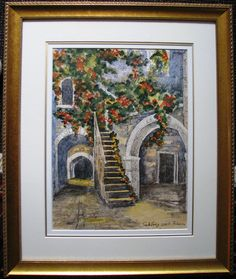 Saltzberg original Ink & watercolour Street Scene by artist Bianca. Watercolour, Scene, Ink, Street, The Originals, Artist, Artwork, Painting, Pen And Wash