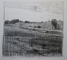 On 10 Original Fall Landscape Drawing in Pencil by Paintbox