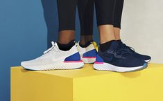 Today, Nike reveals the NIKE EPIC REACT FLYKNIT: the first running shoe to use their latest innovation, entitled Nike React. See more at The Drop Date.