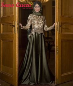 2016 Fashionable Evening Dress Long Sleeves Golden Lace Long Formal Formal Gown Arabic Muslim Dubai Kaftan Turkish Evening Dress-in Evening Dresses from Weddings & Events on Aliexpress.com | Alibaba Group