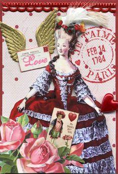 Romantic Marie Valentine ATC 2   Flickr: Intercambio de fotos