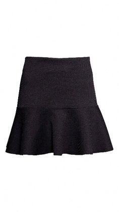 Falda negra-H&M