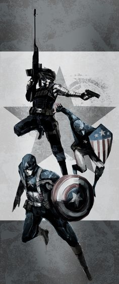 Captain America/Winter Soldier/Patriot by naratani.deviantart.com on @deviantART