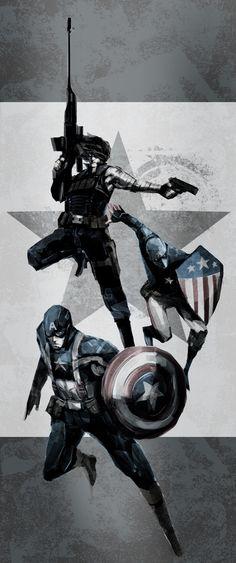Captain America/Winter Soldier/Patriot by naratani.deviantart.com on @deviantART