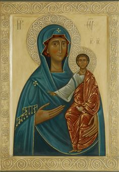 The Mother of God with Christ Child by Olga Shalamova (2014)