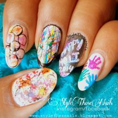 Style Those Nails: Holi & St.Patrick's Day Nail art #holinails #stpatricksdaynails