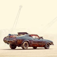 More about Mad Max here.More about Mad Max here. The Road Warriors, Stunt Bike, Mad Max Fury Road, Pt Cruiser, Rat Fink, Ford Falcon, Us Cars, Cool Cars, Weird Cars