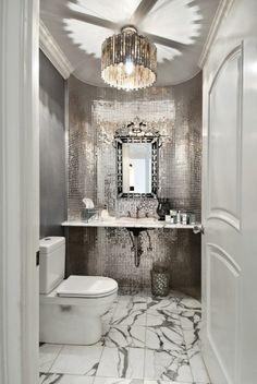 Badezimmer Deko Badezimmer Gestalten Mit Mosaik Fliesen In Silbern