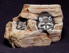 Painted Rock Woodland Critters