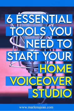 6 Tools You Need to Start Your Home Voiceover Studio - actors Recording Studio Setup, Recording Booth, Voice Acting, The Voice, Acting Scripts, Voice Quotes, Teen Boy Rooms, Design Studio Office, Online Jobs From Home