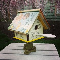 107/365 vintage cookbook bird house | annumography.wordpress.com