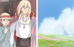 howl's moving castle howl sophie Hayao Miyazaki studio ghibli that just a gorgeous gif Studio Ghibli Art, Studio Ghibli Movies, Hayao Miyazaki, Manga Anime, Howl And Sophie, Ai No Kusabi, 3d Studio, Arte Disney, Howls Moving Castle