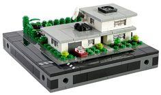 LEGO Microscale Bungalow - Front view (by T. Lego Humor, Micro Lego, Lego Ship, Lego Craft, Lego Modular, Lego Construction, Lego For Kids, Lego Room, Lego Worlds