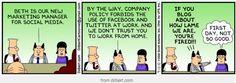 Dilbert comic on Social Media