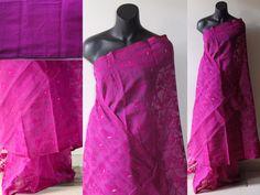 Bangladeshi jamdani majenta saree
