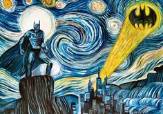 Dark starry Knight- Drawer used same kind of drawing, but by drawing bat man on it, it gave new feeling.