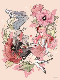 'Bubbline - Photographic Print by days-e - adventure time - Adventure Adventure Time Marceline, Adventure Time Anime, Adventure Time Personajes, Princesse Chewing-gum, Adventure Time Tattoo, Adveture Time, Adventure Time Characters, Adventure Time Princesses, Princess Adventure