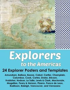 Explorers to the Americas - Set of 24 Posters and 24 Stude 4th Grade Social Studies, Teaching Social Studies, Teaching History, Teaching Resources, School Resources, Teaching Ideas, Teaching 5th Grade, Study History, History Class