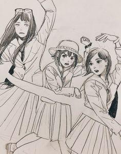 Eizouken ni wa Te wo Dasu na! Manga Art, Anime Manga, Anime Art, Drawing Reference Poses, Art Reference, Art Sketches, Art Drawings, Character Art, Character Design