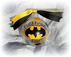 2 LEFT Personalized Hand painted Batman superhero Christmas ornament any theme sports logo school team etc