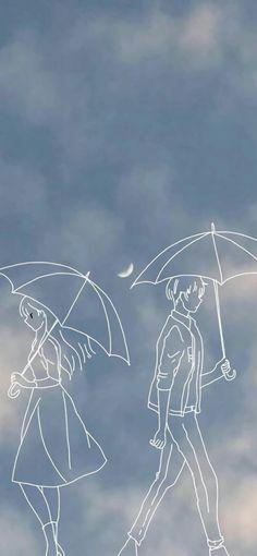 Black Background Wallpaper, Anime Scenery Wallpaper, Cute Anime Wallpaper, Cute Wallpaper Backgrounds, Wallpaper Iphone Cute, Pretty Wallpapers, Cute Cartoon Wallpapers, Cute Couple Drawings, Cute Couple Cartoon