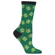 St Patrick/'s Day Ladies Crew Length Socks Green Stripes Kiss Me I/'m Irish