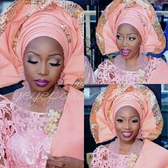 Gorgeous Nigerian bride. Make-up for dark skin