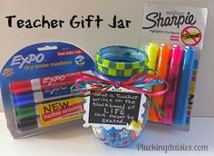 teacher gifts, mason jar gifts, gift jars, mason jars, gift idea, seuss teacher