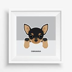 "Chihuahua print,Chihuahua Puppy ,Cute Dog Print,Puppy,Puppy watercolor,Pet Decor,digital Prints,nursery decor,8""x 8""inches (20,3x20,3cm)"