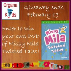Enter to #win a DVD of Missy Mila Twisted Tales, unique twists on classic stories that your little one is sure to love! #Giveaway ends February 19th so hurry and enter now!