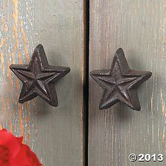 Rustic Rope Lone Star Drawer Pull Cabinet Knob Western Southwest ...
