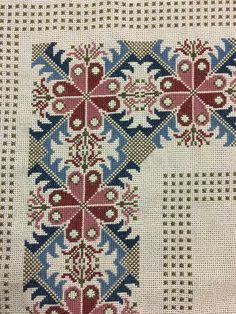 The border pattern Cross Stitch Boarders, Cross Stitch Flowers, Cross Stitch Charts, Cross Stitch Designs, Cross Stitching, Cross Stitch Patterns, Crewel Embroidery, Cross Stitch Embroidery, Embroidery Patterns