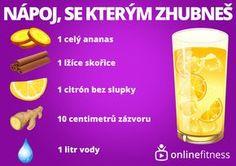 Zázračný nápoj, který spaluje tuk v oblasti břicha Blog Online, Fitness, Czech Republic, Pineapple, Keep Fit, Health Fitness, Rogue Fitness, Gymnastics