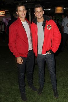 And walk around in matching red jackets. | Max And Charlie Carver Are Basically The Hottest Twins On TV