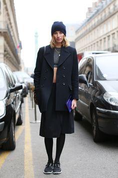 Veronika Heilbrunner in Paris. Black is key to the heart of me.