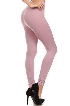 b94c89322bf8a Bulk Mauve Solid Fleece Lined Seamless Leggings Mauve Color, Seamless  Leggings, Colorful Leggings,